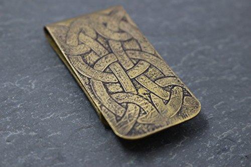 Celtic Knot Brass Money Clip by Jill D Designs