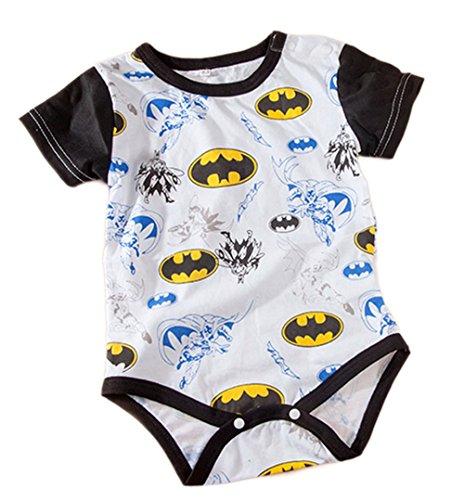 [Stylesilove Super Heroes Baby Boy Costume Jumsuit (18-24 Months, White Batman)] (18 Month Superhero Costumes)