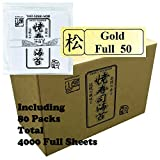 Kaneyama Yaki Sushi Nori, Gold, Full Size, 80 x 50-Sheet-Pack, Total 4000 Full Sheets