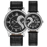 Lookatool 1 Pair/2pc Tiannbu Ultrathin Leather Romantic Fashion Couple Wrist Watches