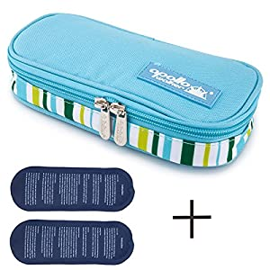 Insulin Cooler Bag Diabetic Organizer Medical Travel Cooler (Light Blue)