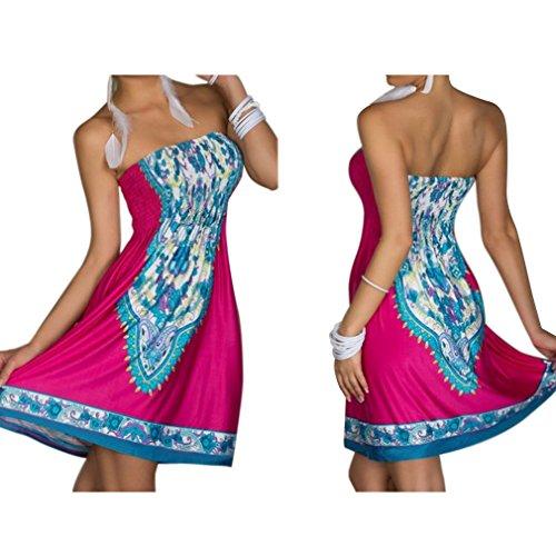 Kleid oben rosa unten blau