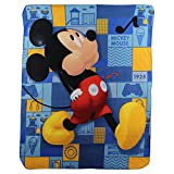 Mickey Mouse ''Whistle While you Walk'' Kids Character lightweight Fleece Throw Blanket