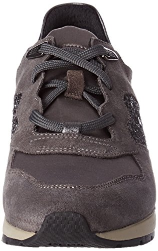 Geox Women's D Shahira B Low-Top Sneakers Grey (Dk Grey/Anthracite) x5iKMO