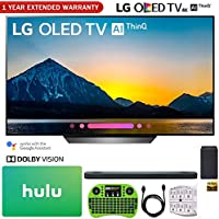 LG OLED65B8PUA 65 Class B8 OLED 4K HDR AI Smart TV (2018) + LG SK9Y 5.1.2-Channel Hi-Res Audio Soundbar with Dolby Atmos + Hulu $100 Gift Card + 1 Year Extended Warranty + More