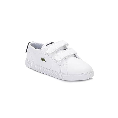 Lacoste Niños Blanco Marcel Zapatillas: Amazon.es: Zapatos y complementos