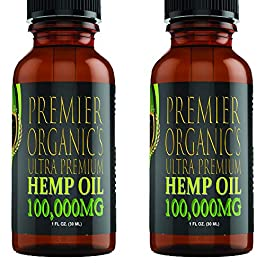 (2 Pack :: 100,000mg Each) Hemp Oil for Pain Relief Anxiety Relief Sleep Support :: Organic – Hemp Extract Supplement…