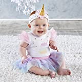 3 month old halloween costume - Baby Aspen, My First Unicorn Outfit with Headband, Baby Onesie, 0-6 Months