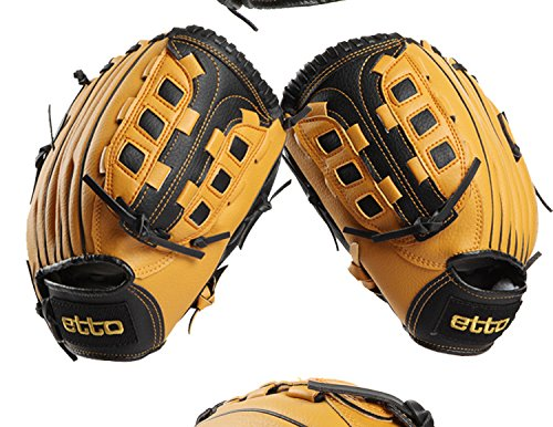 Etto 10 Inches Children Baseball Gloves Left Hand Softball Glove (Tpx Leather Outfield Glove)