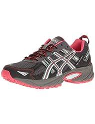 ASICS Women\'s Gel-Venture 5 Trail Runner, Carbon/Diva Pink/B...