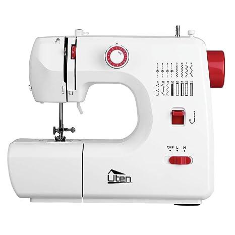 Uten Profesional Máquina de coser eléctrica con luz LED: Amazon.es ...