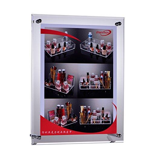FOLOBE Acrylic Frame L Desk Sign Holder Ad Sertification Desktop Clear Photo Display 8x11.5 IN (21x29.7 CM)