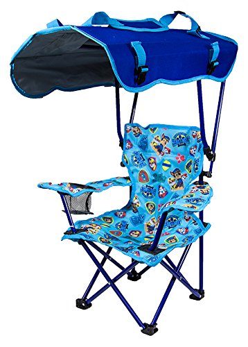 Kelsyus Kids Outdoor Paw Patrol Canopy Chair - Foldable Children's Chair for Camping, Tailgates, and Outdoor Events ()