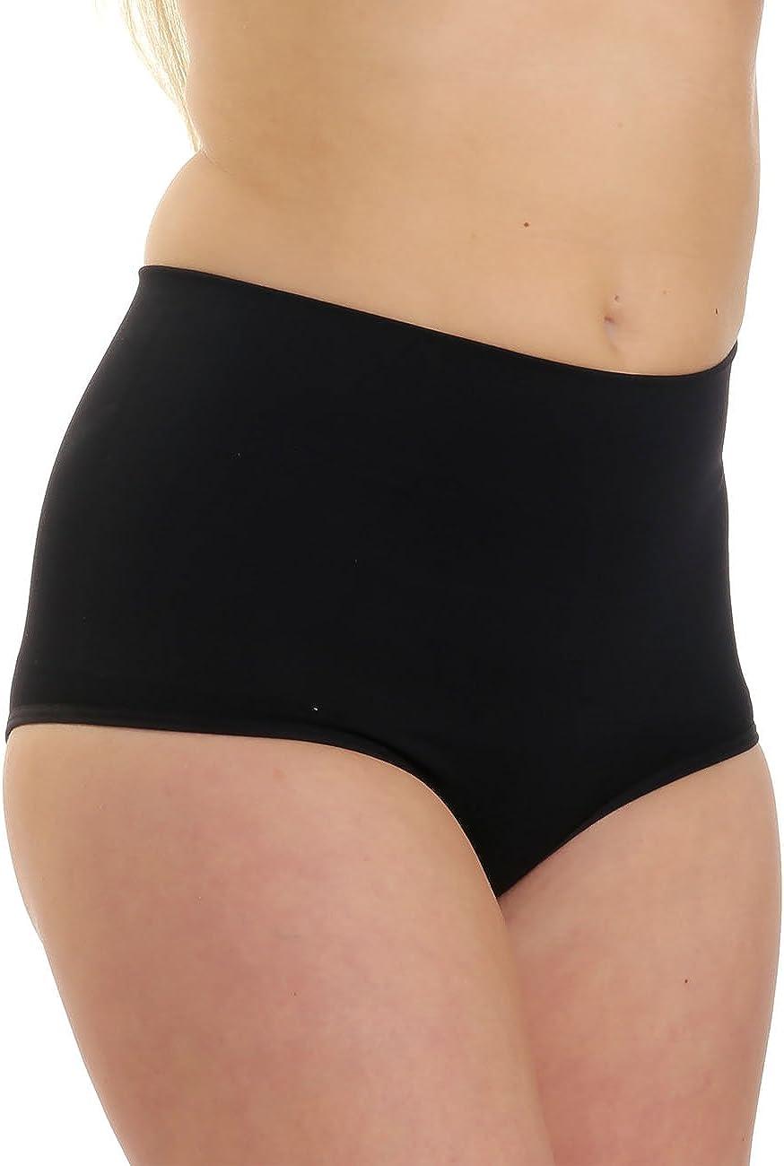 LisaModa Damen Taillenslips 6er Pack Stretch Baumwolle