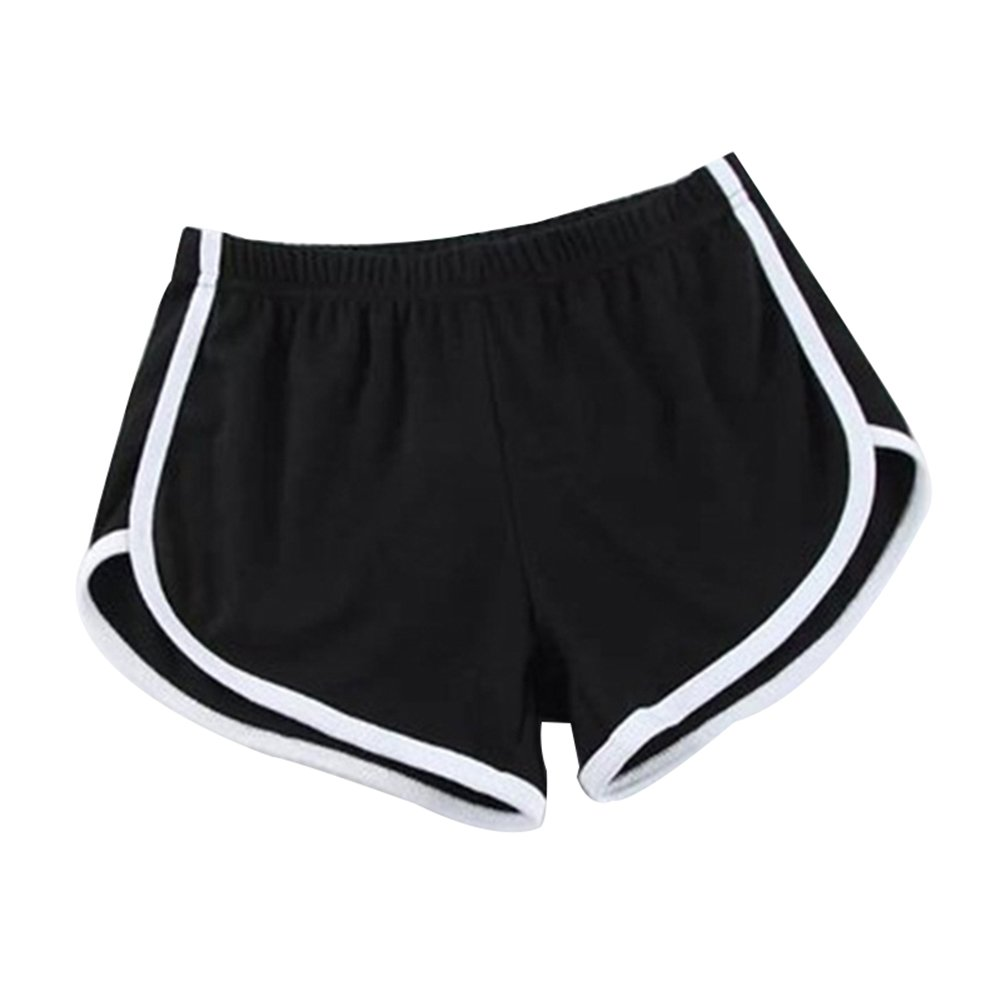 Hosaire Femme Short de Sport Casual Yoga Fitness Elastique Short Été Unique  Taille Shorts décontractés Mode Plage Short Multicolore 6e3239848fb