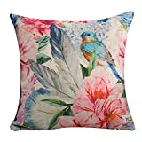 Multi-Size Floral Print Stuffed Throw Pillow Seat Chair Back Cushion LivebyCare Bed Sofa Pillows For Decor Decorative Home Sofa Bedroom