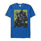 Marvel Men's X-Men Beast Stripes Royal Blue T-Shirt
