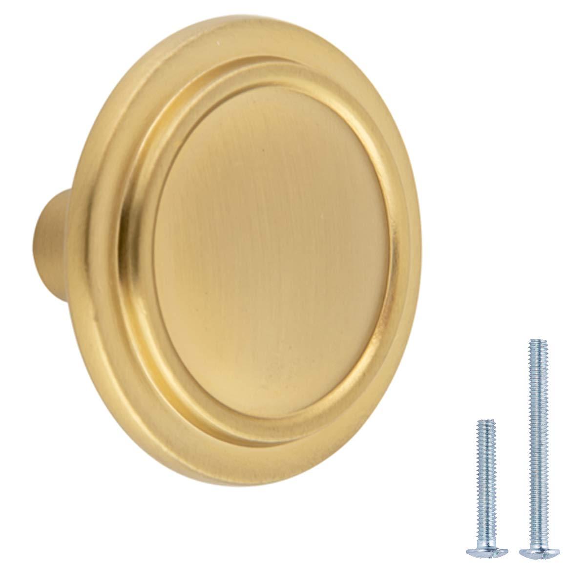 3.17 cm de di/ámetro lat/ón cepillado Pomo de armario Basics AB400-BB-10