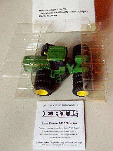 John Deere 9420 Tractor - 1/64 John Deere JD 9420 4WD Tractor W/triples Die Cast Vechicle
