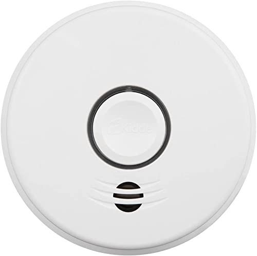 Kidde P4010ACSCO-W 120-Volt Hardwired Combination Smoke CO Voice Alarm with Intelligent Wire-Free Interconnect and 10-Year Battery 12
