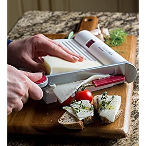 Westmark Germany Multipurpose Stainless Steel Cheese and Food Slicer with Board and Adjustable Thickness Dial (White) – 70002260