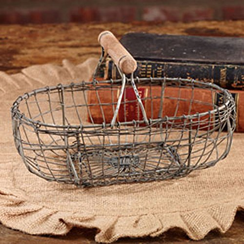 Handcrafted Farmhouse Oval Wire Basket