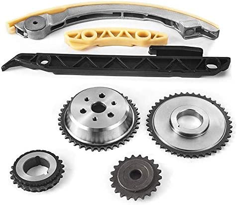 Replace # 12680750 9-4201S 9-4201SX Engine Timing Chain Kit w//Chain Guide Tensioner Sprocket Fit for 2.0L 2.2L 2.4L Buick Chevy GMC Pontiac Saab Saturn