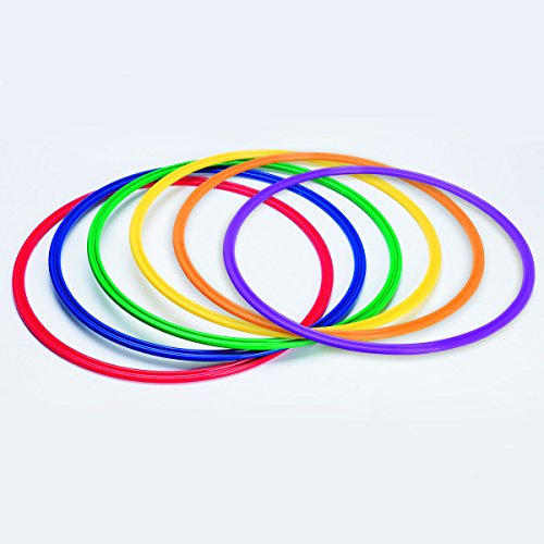 S&S Worldwide YS-AR-20 Spectrum Flat Hoops / Agility Rings, (Activity Hoops)