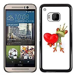 Paccase / SLIM PC / Aliminium Casa Carcasa Funda Case Cover para - Crown White Love Valentine Valentines - HTC One M9