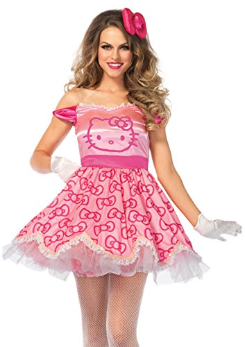 [Leg Avenue 2 PC. Pretty Pink Hello Kitty (Large)] (Hello Kitty Costume For Adults)