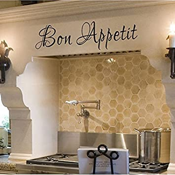Image Unavailable Not Available For Color Wall Decal Decor Bon Appetit Italian Vinyl Dining Room