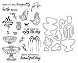 ShopForAllYou Stamping & Embossing (Stamp & Die Bundle)''Make A Fountain'' Clear Stamps Only or Stamp