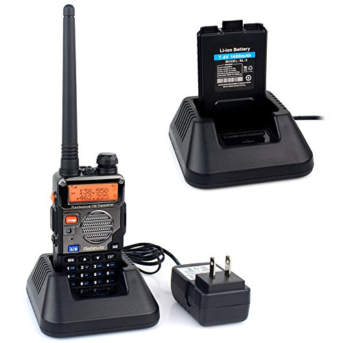 Retevis RT-5RV Walkie Talkies 5W 128CH Dual Band VHF/UHF 136-174/400-520 MHz VOX CTCSS/DCS FM Ham Radio with Earpiece (10 Pack) and Speaker Mic (10 Pack) by Retevis (Image #1)'