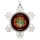 Vikefe_ety Xmas Trees Decorated Bacon Weave Veggie Bowl Traditional Christmas Tree Decorations Meat
