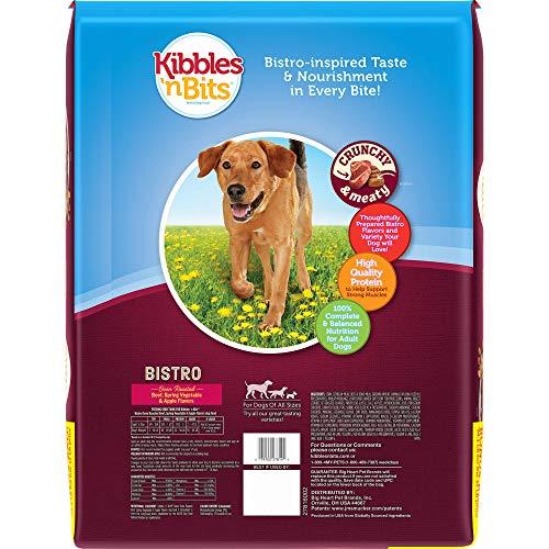 Kibbles 'N Bits Bistro Oven Roasted Beef Flavor Bonus Bag Dry Dog Food, 34.1 Lb