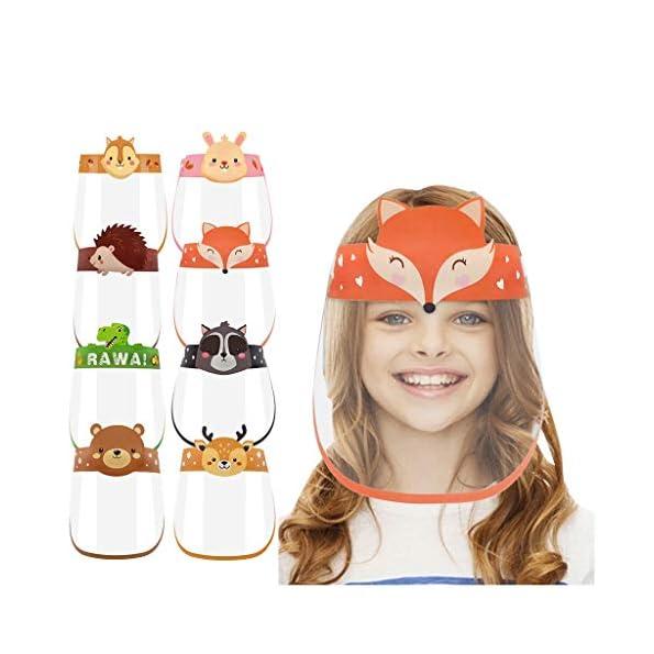Styledress-Gesichtsschutz-Visier-aus-Kunststoff-fr-Kinder-Junge-Mdchen-Augenschutz-Spuck-Schutz-Face-Shield-Gesichtsschutzschirm-Visier-transparent-isolierte-3D-Cartoon-Visier-aus-Kunststoff