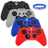 [4 Pack] SlickBlue Combo Flexible Silicone Protective Case For Xbox-One Game Controller – Black/Red/Blue/White [Xbox One] Review