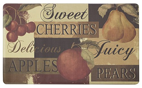 Chef Gear Scrumptious Fruit Printed Anti-Fatigue Kitchen Mat, 24