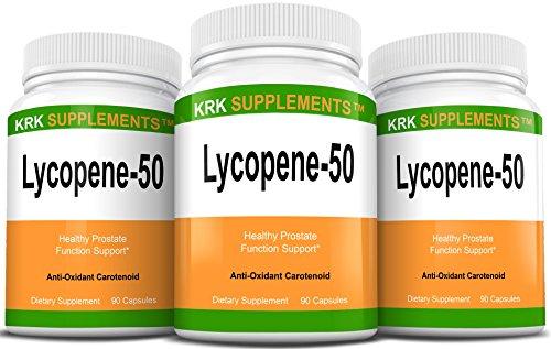 3 Bouteilles Lycopène 50mg 270 Capsules total KRK suppléments