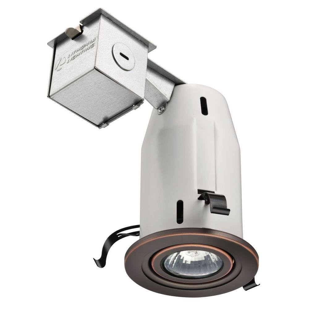 Lithonia Lighting LK3GORB M6 3 Inch Gimbal Kit with Halogen Lamp Included in Bronze