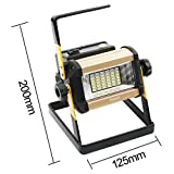 LED Spotlights / Portable Cordless 36 LED Flood Lights, 50W, 2400LM, 3 Modes Lamp, Outdoor Working Water Resistant Lamp, Special SOS Mode for Camping, Fishing, Hunting