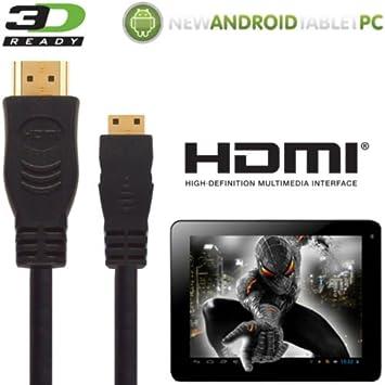 NATPC M009S 7 capacitiva, Superpad Tablet a TV Cable de 3 M este cable de alta