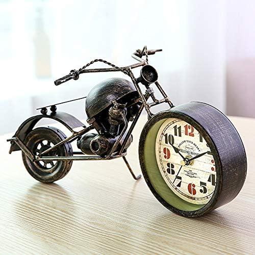 オートバイの時計クリエイティブホーム芸術的な装飾クリエイティブギフト金属工芸品 時計機構