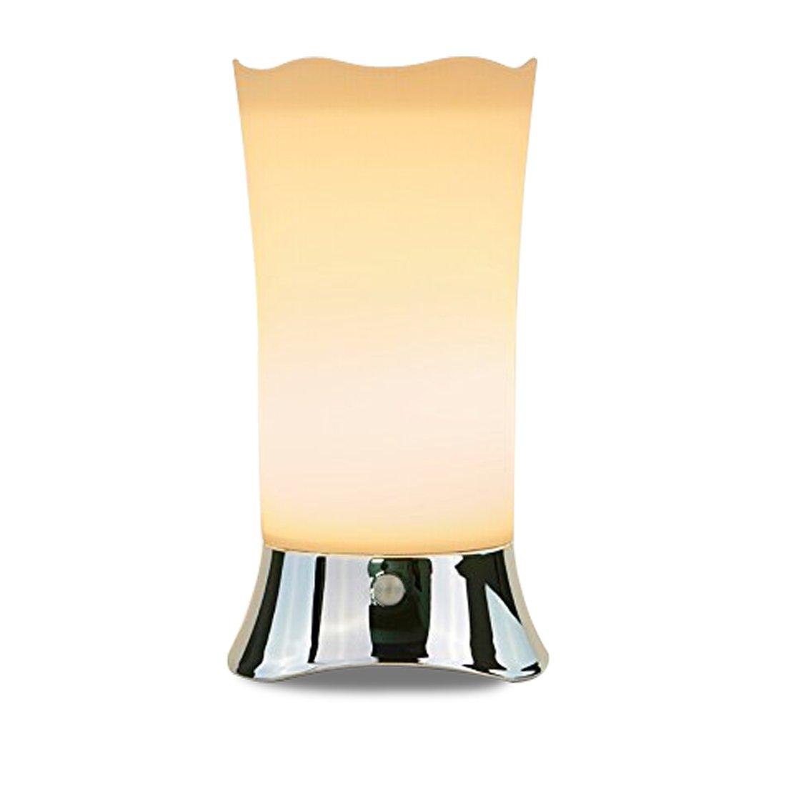 ZEEFO Tischlampe Kinder, LED Nachtlicht Kinder mit PIR Bewegungssensor, batteriebetriebene Nachtlicht für Kinder, schlafraum, Badezimmer, Korridor, Küchen, Treppenstufen [Energieklasse A+] Küchen 005-Silver