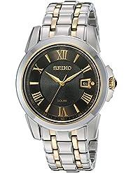 Seiko Men's SNE398 LGS Solar Analog Display Japanese Quartz Two Tone Watch