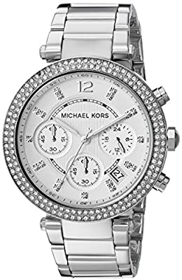 Michael Kors Women's Parker Silver-Tone Watch MK5353 from Michael Kors