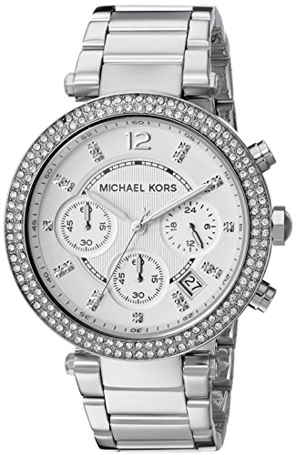 (Michael Kors Women's Parker Silver-Tone Watch MK5353)