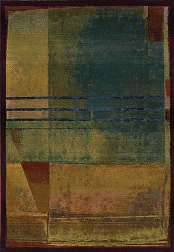 Sphinx Kharma Area Rug 890X4 Red Squares Abstract 2' 3