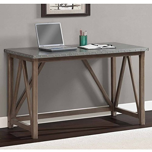 Metro Shop Zinc Top Bridge Desk