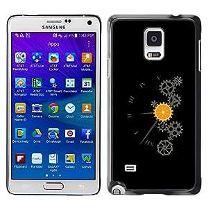 "For Samsung Galaxy Note 4 , S-type Naranja Mecánica"" - Arte & diseño plástico duro Fundas Cover Cubre Hard Case Cover"